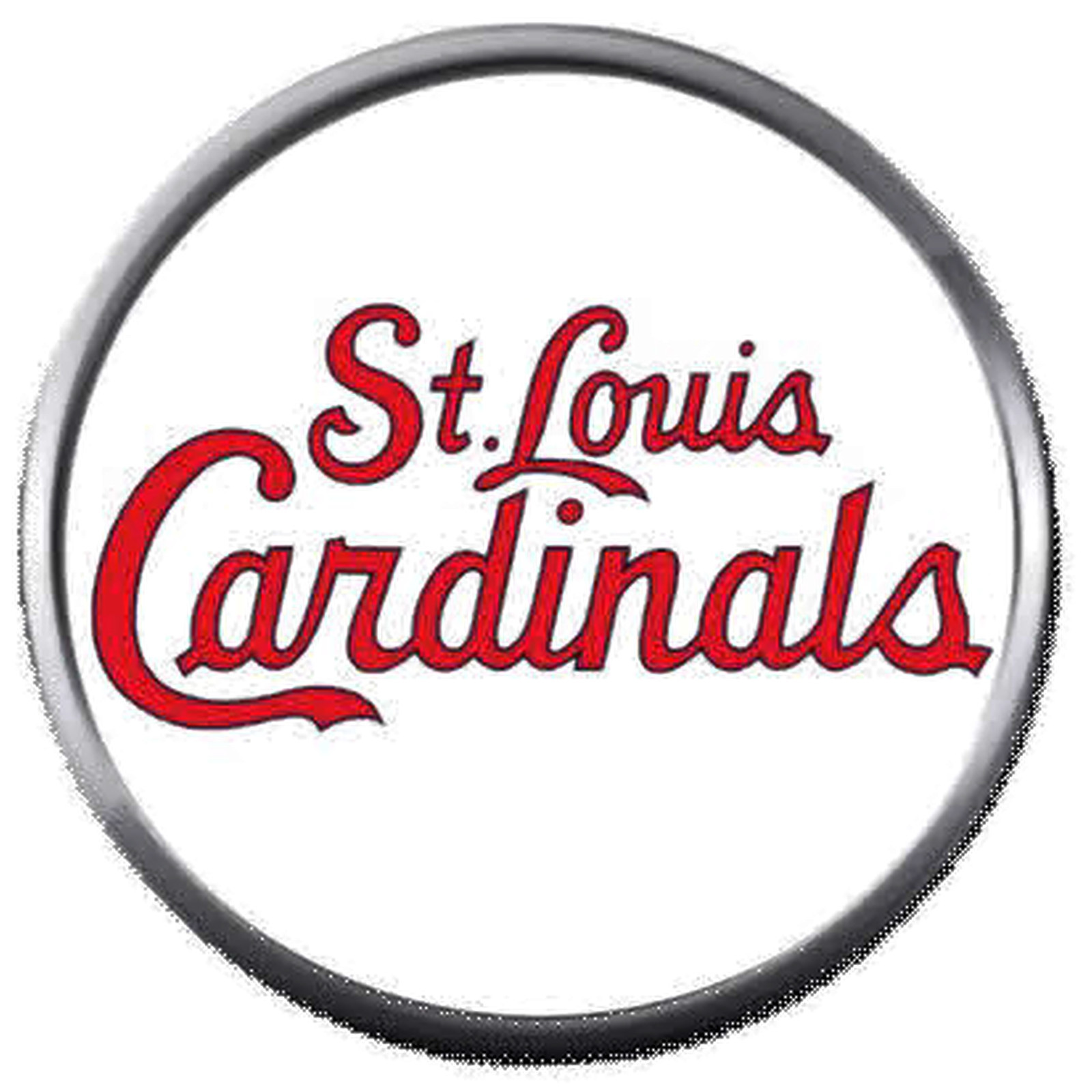 St Louis Cardinals In Red MLB Baseball Logo 18MM - 20MM Snap Jewelry Charm