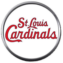 St Louis Cardinals In Red MLB Baseball Logo 18MM - 20MM Snap Jewelry Charm - $5.95