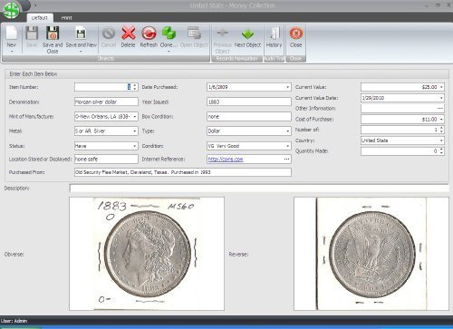 Primary image for Coin and Currency Collector Pro Software [DVD-ROM] Windows