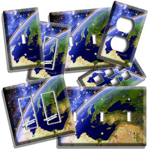 PLANET EARTH VIEW FROM SPACE LIGHT SWITCH OUTLET PLATES STARS GALAXY ROO... - $9.99+