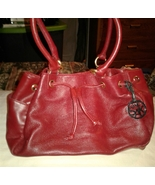 The Sak Dark Red Leather Hobo Shoulder Bag Satchel Purse - $15.00