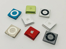 LOT OF 8 - Apple iPod Shuffle (4th Generation) 2GB Silver A1373 - UNTESTED - $395.99