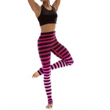 K-Deer Women's Pink/Black Ombre Laura Stripe Full Length Leggings [KDR-00104]