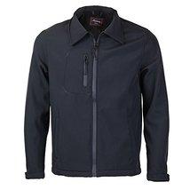 Maximos Men's Lightweight Water Resistant Windbreaker Jacket JERRY (2XL, Black)