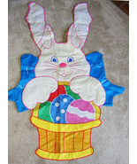 EASTER BUNNY RABBIT - Large 39x61 Hanging Decoration - Indoors or Outdoors - $18.00