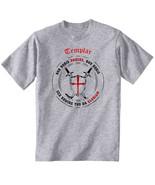 TEMPLAR-NON NOBIS DOMINE .. 012 - NEW COTTON GREY GREY TSHIRT - $23.17