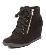ShoBeautiful Women's Fashion Wedge Sneakers High Top Hidden Wedge Heel P... - $31.86