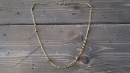 Vintage MONET Gold Plated Knot Necklace 23 inches - $29.69
