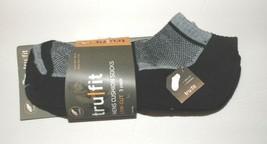 Tru Fit Mens Cushion socks Low Cut 3 Pack Black/Gray Size 10-13 NWT - $11.63