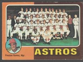 Houston Astros Team Card 1975 Topps Baseball Card 487 g/vg - $0.75