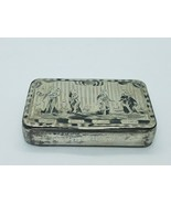 Antique 19c Imperial Russian Silver Niello 84 Snuff Box 2 sided - $294.87