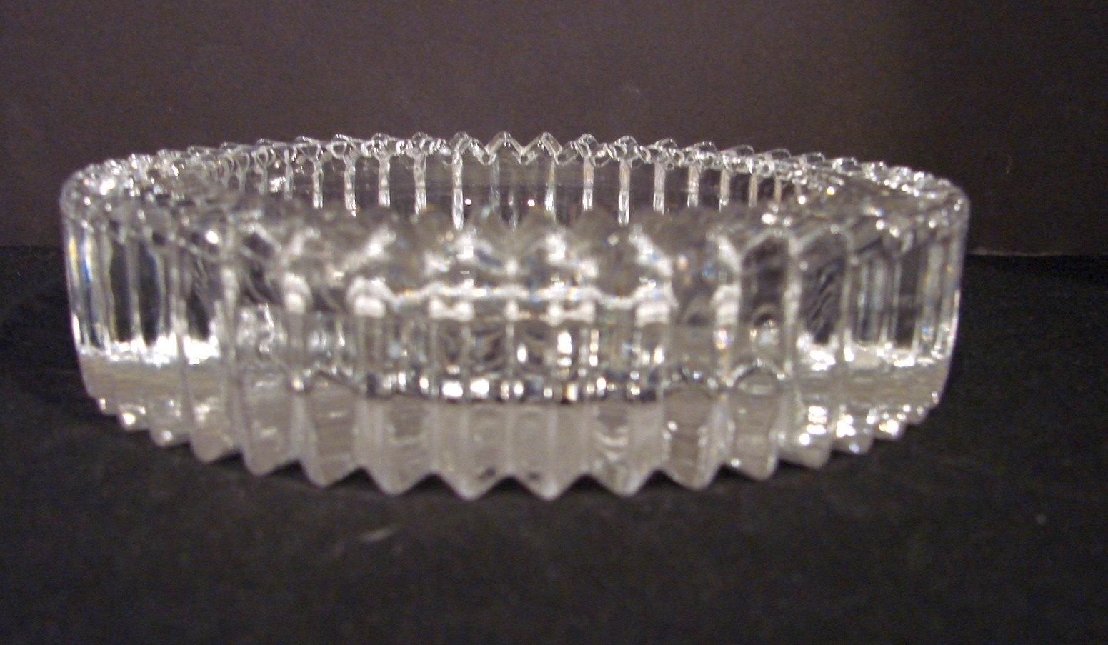 Matching Pair of Crystal Wine Coasters Diamond Fire by Mikasa image 2
