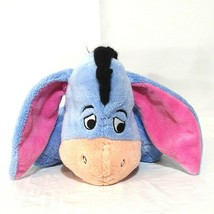 Disney Winnie the Pooh Eeyore Stuffed Plush Toy Blue Pink  image 2