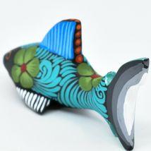 Handmade Alebrijes Oaxacan Copal Wood Carving Painted Folk Art Shark Figurine image 3