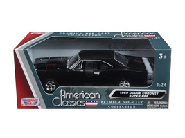 1969 Dodge Coronet Super Bee Black 1/24 Diecast Model Car by Motormax - $39.95
