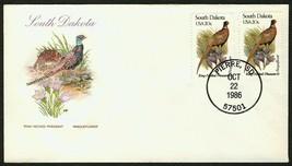 S. Dakota-Ring Necked Pheasant & Pasqueflower, HF-Sealed Flap **ANY 4=FR... - $1.00