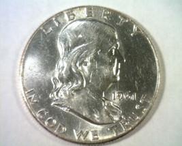 1961 FRANKLIN HALF DOLLAR CHOICE ABOUT UNCIRCULATED CH. AU NICE ORIGINAL... - $14.00