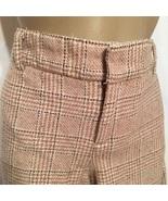 Juicy Couture Tan Plaid wool blend pants 10 - $39.95