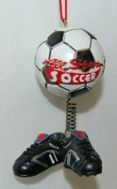 Midwest CBK Soccerball Shoes Bobble Christmas Ornament All Star 2 Set image 2