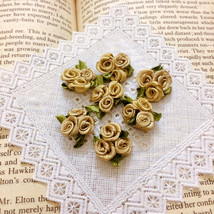 20 Trio Gold Roses,Metallic Gold Roses,Satin Rosettes,DIY Craft ,Sewing ... - $7.95
