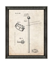 Snare-drum Stick Patent Print Old Look with Black Wood Frame - $24.95+