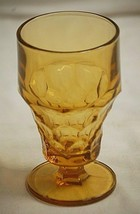 Anchor Hocking Georgian Honeycomb Tumbler Goblet Footed Pressed Glass Vn... - $16.82