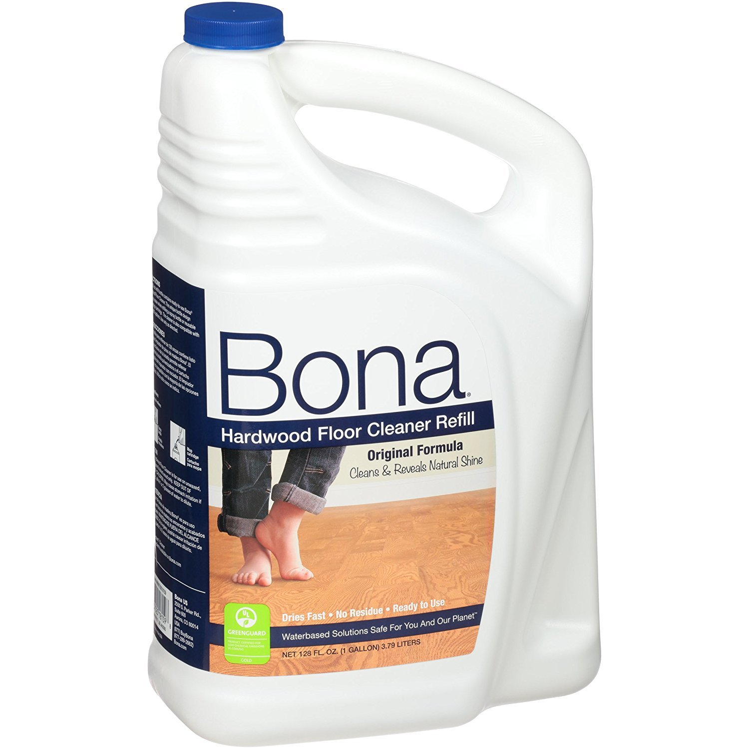 Bona Hardwood Floor Cleaner Refill 128 oz with Three Microfiber Cleaning Cloth