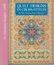 "Hard Covered Book - ""Quilt Designs in Cross-Stitch"" - Vanessa-Ann - Gent... - $18.00"