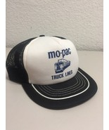 Baseball Cap Hat Snap Back trucker cap Mo-Pac Truck Lines black white - $19.79