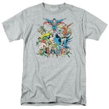 Justice League T-shirt DC comic book super friends hero cartoon grey tee DCO112 image 2