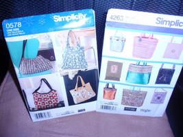 Simplicity Designs Bags 0578 or 4263  Elaine Heigl Designer  New - Uncut - $8.00