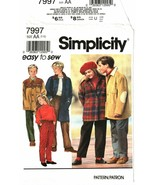 Simplicity 7997 Boys' & Girls' Pull-on Pants & Unlined Coat or Jacket Si... - $10.47