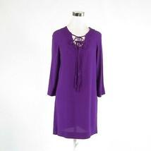 Purple DIANE VON FURSTENBERG 3/4 sleeve shift dress 2 - $79.99