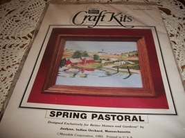 Better Homes and Gardens Craft Kit 29516~Spring Pastoral Cross Stitch Kit - $25.00