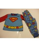 Toddlers Superman PJs Pyjamas 2T 100% Cotton  - $11.98