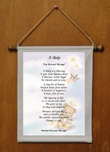 A Baby - Personalized Wall Hanging (771-2) - $18.99