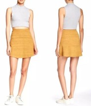 American Apparel Hyperion Short Mini Flare Skirt Mustard Yellow Melange ... - $14.83
