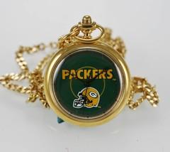 NFL de Mujer Reloj Colgante Green Bay Packers Inoxidable Cadena de Oro A... - $33.38