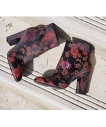 New $129 Guess Nasia3 Floral Print Ankle Booties Boots Size 7.5 - $77.39