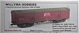 Willyma Hobbies HO B&M 50' Wood Milk Car Thermo King Version ONE PIECE BODY Kit  image 2