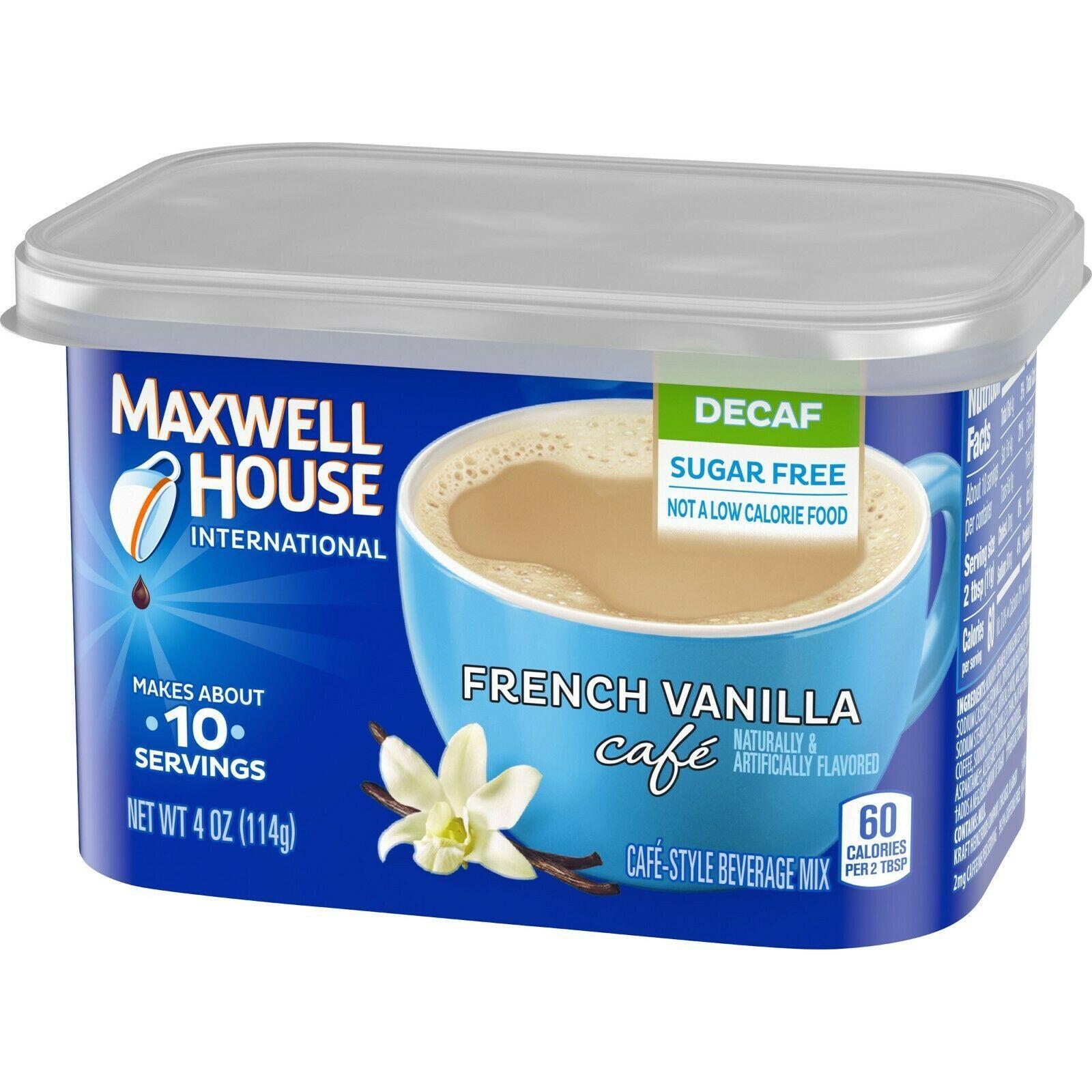 Maxwell House International Decaf Sugar Free French Vanilla  4 oz (Pack of 16) - $79.19