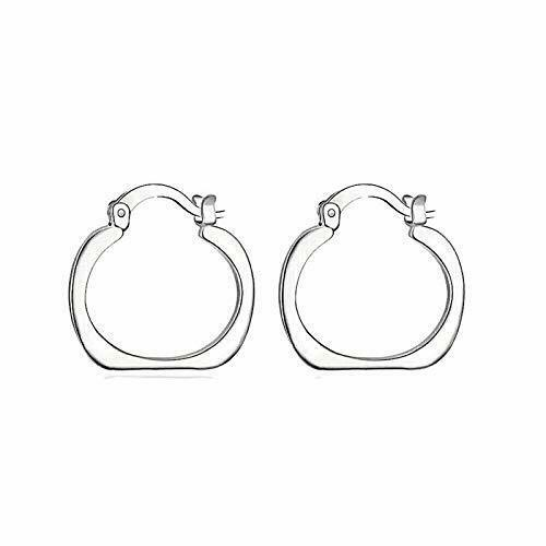 Primary image for Solid Square Loop Earrings 925 Sterling Silver NEW