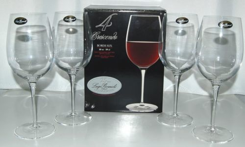 Luigi Bormioli 0962701 Crescendo Bordeaux 20 ounce Wine Glasses Set of 4