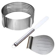 3pcs Stainless Steel Cake Lifter Spatula and Cake Slicer Set Pizza Trans... - $39.11