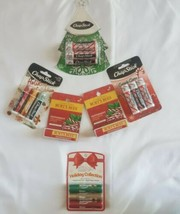 Assorted brands Lip Balms 16 total CHRISTMAS Holiday Stocking fillers  - $20.57