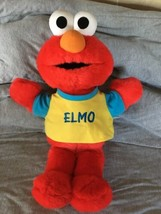 "1997 TYCO TOSS and TICKLE ME ELMO 19"" TALL VGC Clean Fun! Talking Laughing - $15.83"