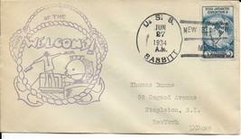 BABBITT (DD-128) 27 Jun 1934 Locy Type 3s(A) Postmark Rogers Cachet - $3.47