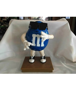 M  Ms Blue Candy Milk Chocolate Dispenser With Sunglasses 10 Inches Tall - $15.99