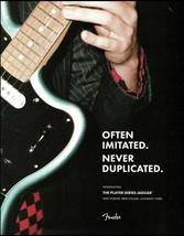 Fender Player Series Jaguar Guitar 2018 advertisement 8 x 11 ad print - $4.50