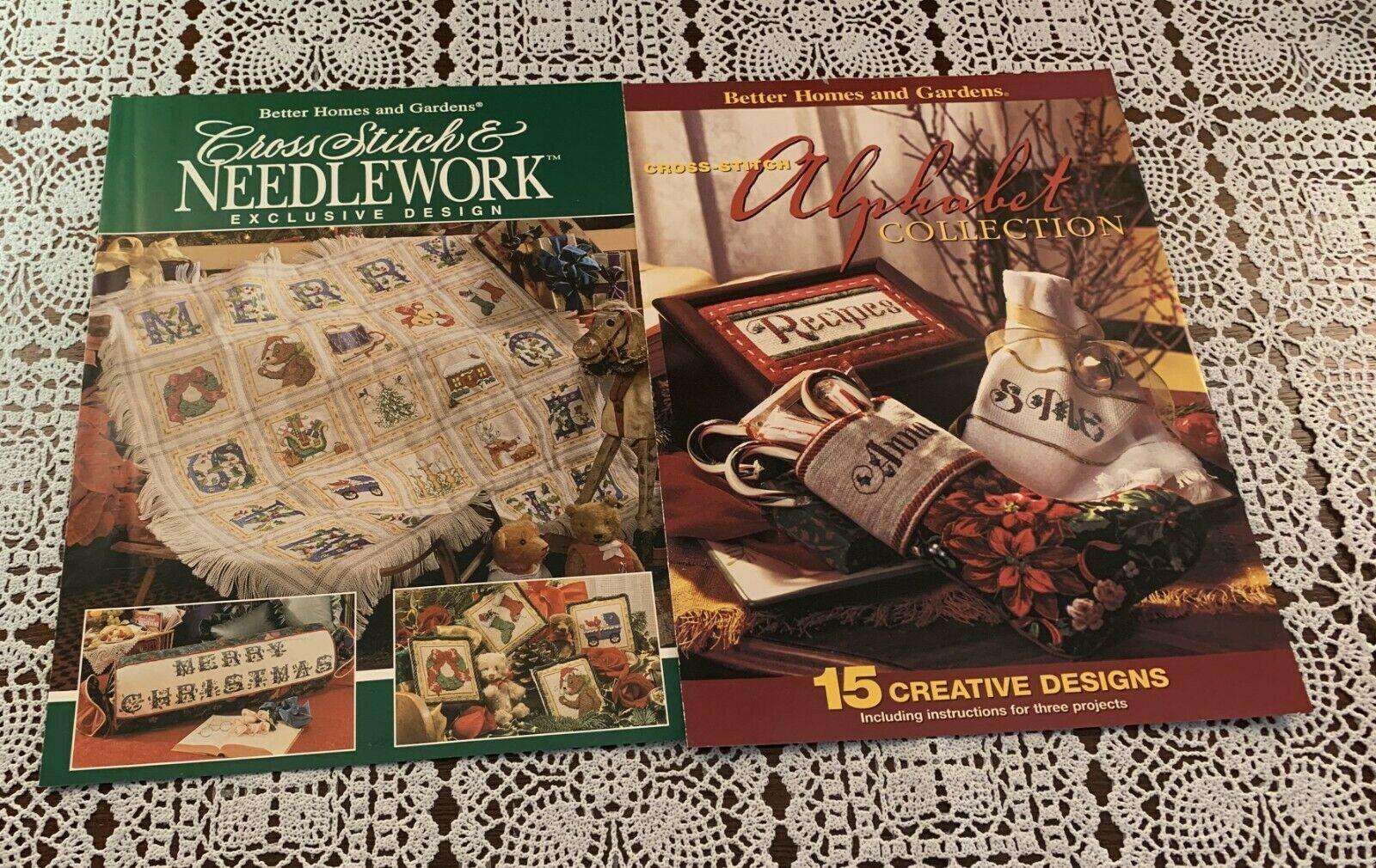 Three Better Homes Gardens Booklets Cross Stitch Alphabet Country Craft Ideas - $7.99